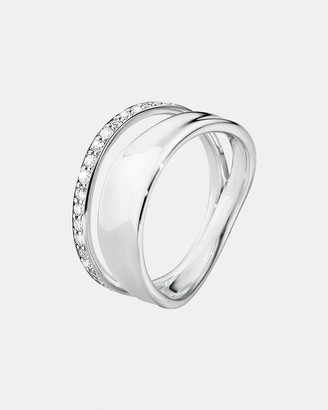 Georg Jensen Marcia Ring Silver and Diamonds