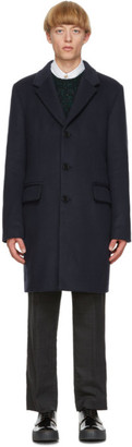 Acne Studios Navy Wool Coat