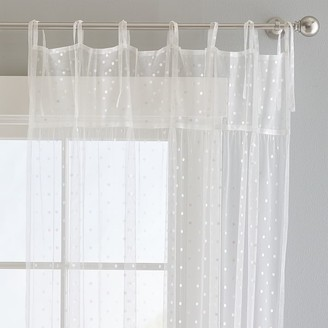 Pottery Barn Teen Irridescent Dot Sheer Curtain