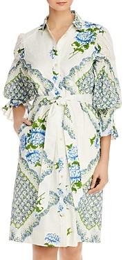 Tory Burch Printed Cotton Shirt Dress