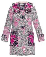Mary Katrantzou Chanty Rose-Phillipe lace-overlay duffle coat