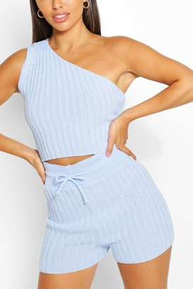boohoo Petite Knitted Short Co-Ord