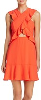 BCBGMAXAZRIA Ruffle Cross-Front Dress