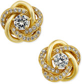 Giani Bernini Cubic Zirconia Love Knot Stud Earrings in Sterling Silver and 18k Gold-Plated Sterling Silver, Only at Macy's