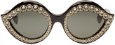 Gucci Black Crystal Cat Eye Sunglasses
