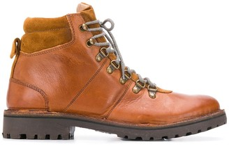 Eleventy padded ankle lace-up boots