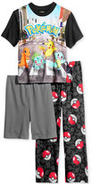 Pokemon 3-Pc. Pajama Set, Little Boys (2-7) & Big Boys (8-20)