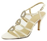 Brianna Leigh Diamond Open Toe Canvas Sandals.