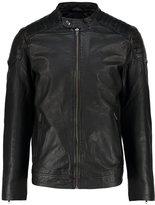 Jack & Jones Jorjoe Leather Jacket Black