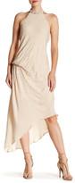 Haute Hippie Asymmetrical Beaded Silk Dress