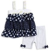 Little Lass Baby Girls Daisy Tiered Tunic and Leggings Set