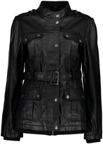 Maverick Black Belted Funnel Collar Jacket