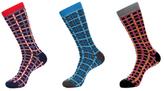 Jared Lang Gridded Socks (3 PK)