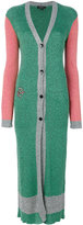 Etro colour block long coat - women - Cotton/Viscose - 40
