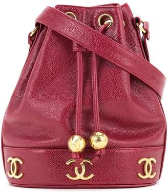 Chanel Pre-Owned logo bucket bag