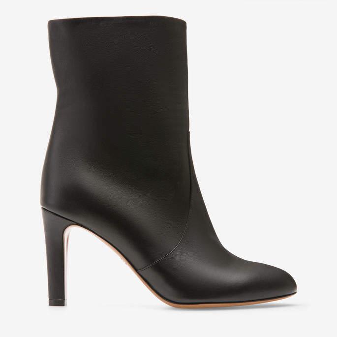 Bally Bellis Black, Women's calf nappa leather short boot with 85mm heel in black