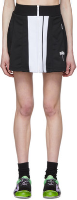 Palm Angels Black Tennis Track Skirt