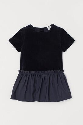 H&M Velvet Dress - Blue