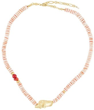 Anni Lu Shell-Pendant Beaded Necklace