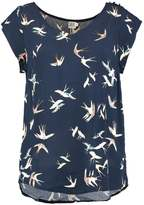 Saint Tropez BIRD PRINT Print Tshirt dark navy