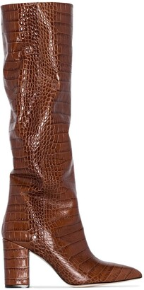 Paris Texas Crocodile-Effect 80mm Boots