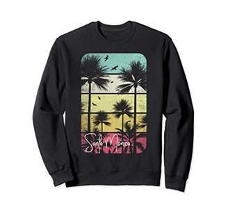 MONICA Retro Santa California Vintage 70's 80's Women Gift Sweatshirt