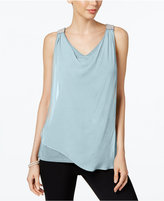 MSK Beaded Sleeveless Blouse