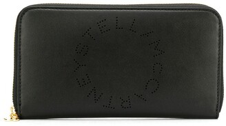 Stella McCartney perforated logo continental wallet