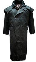 Mens Wax Cotton Stockmans Long Cape Coat Jacket Weatherproof by WWK / WorkWear King