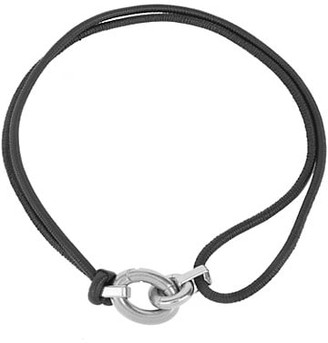 Bottega Veneta Carabineer Buckle Leather Cord Wrap Belt