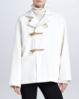 Ralph Lauren Short Duffle Coat, Cream