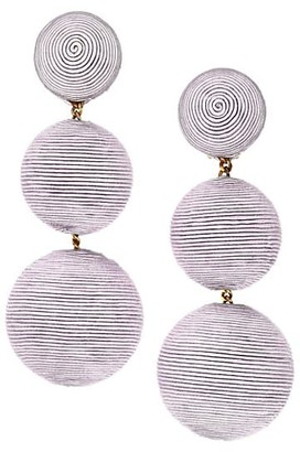 Rebecca De Ravenel Woven Triple Drop Earrings