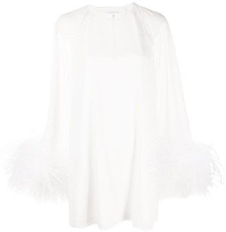 16Arlington Daphnie feather mini dress