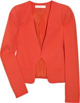 Crepe structured-shoulder jacket