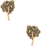 Marc Jacobs Charms Pave Tree Stud Earrings