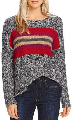 Vince Camuto Marled Stripe-Panel Sweater