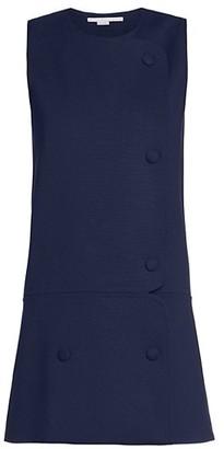 Stella McCartney Mina Sleeveless Stretch Wool Mini Dress