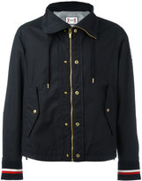 Moncler Gamme Bleu buttoned jacket - men - Cotton/Polyamide/Cupro - 1