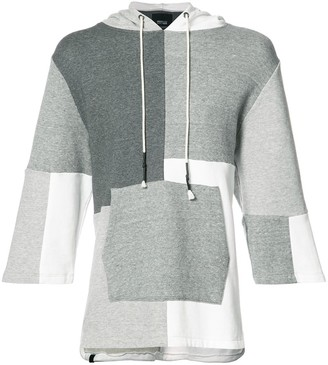 Mostly Heard Rarely Seen Patchwork Shortsleeved Hoodie