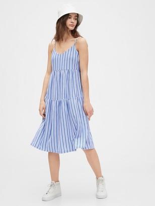 Gap Tiered Cami Midi Dress in Modal-Cotton