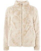 Dorothy Perkins Womens Cream Faux Fur Coat- Cream