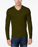 Club Room Men's Merino Blend V-Neck Sweater, Classic Fit