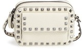 Valentino Rockstud Mini Camera Crossbody Bag - Ivory