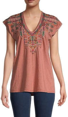 Johnny Was Verena Embroidered T-Shirt