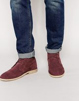 Asos Desert Boots In Suede - Red