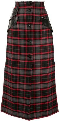 Yang Li Tartan Midi Skirt