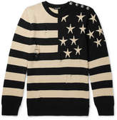 Balmain - Distressed Intarsia Linen Sweater