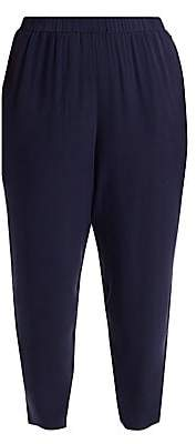 Eileen Fisher Eileen Fisher, Plus Size Women's Plus System Slouchy Silk Ankle Pants