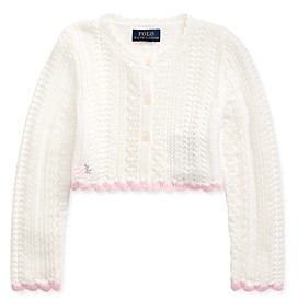 Ralph Lauren Polo Girls' Cropped Cardigan - Little Kid