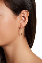 Gorjana CZ Pave Curved Bar Drop Earrings